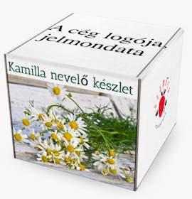 Egyedi designnal, céges logóval rendelhető növénynevelő készletek